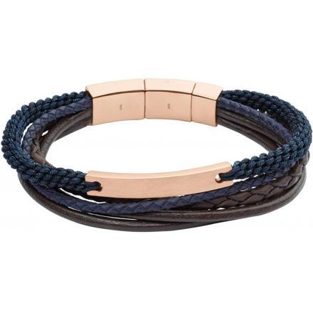 bracelet homme fossil cuir