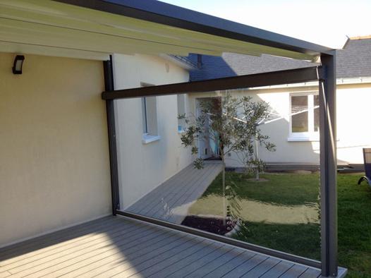 brise vent retractable pour terrasse