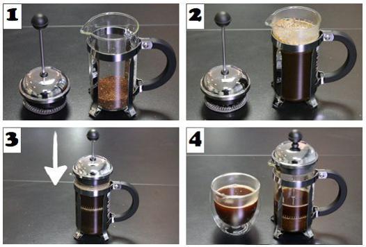 café cafetière à piston