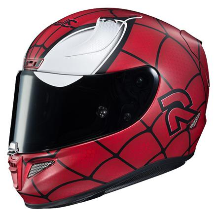 casque de moto spiderman