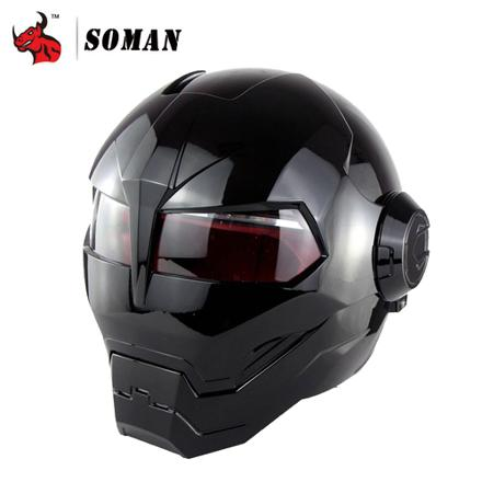 casque moto iron man
