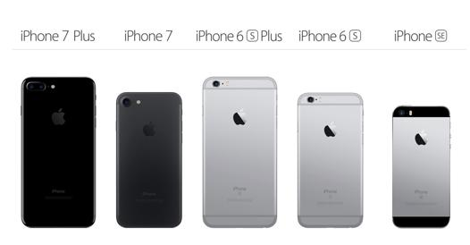 comparatif iphone 7 et 7 plus