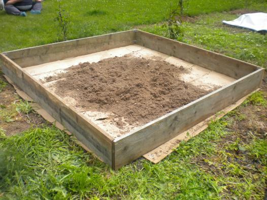 créer un potager en carré