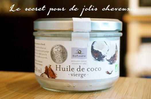 huile de coco vierge pour cheveux