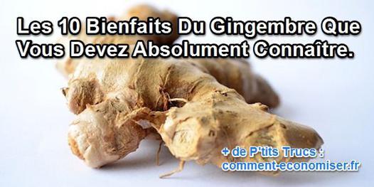 les bienfait du gingembre