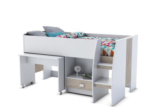 lit combine blanc