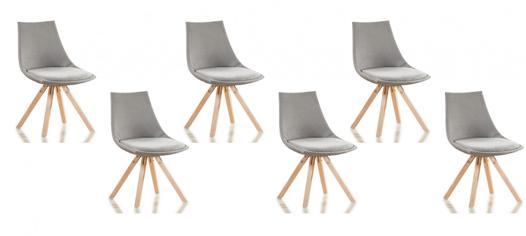 lot 6 chaises scandinaves