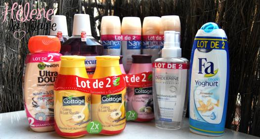lot de gel douche