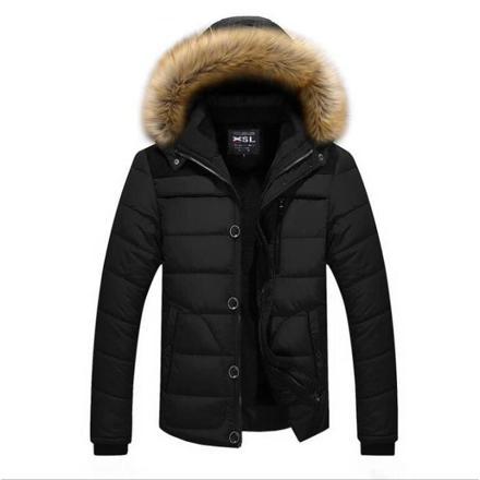 manteau a capuche fourrure homme