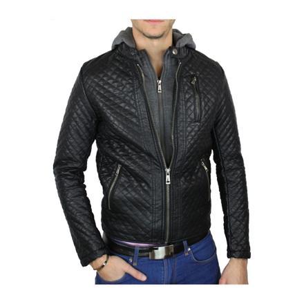 manteau faux cuir homme