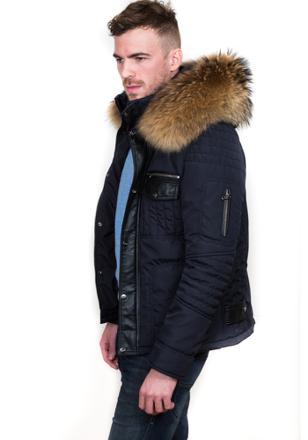 manteau grosse fourrure homme