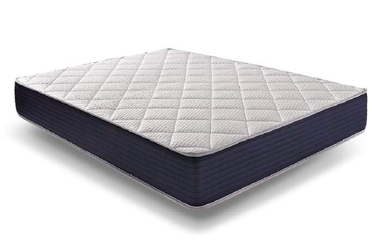 matelas royalvisco 140 x 190 cm mousse à mémoire + blue-latex 25 cm