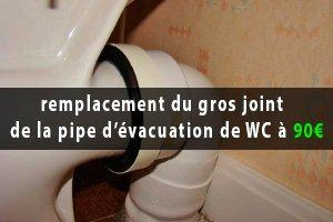 mauvaise odeur wc joint