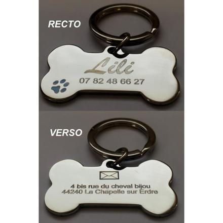 médaille pour chien à graver