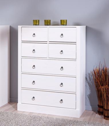 meuble blanc a tiroir