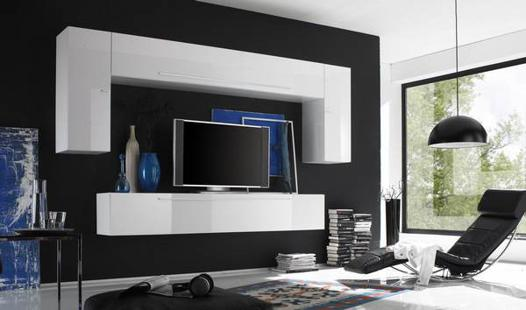 meuble design tv mural