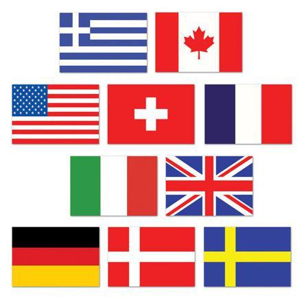 mini drapeaux du monde