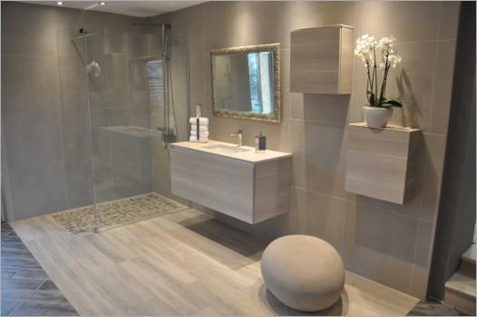modèle salle de bain avec douche