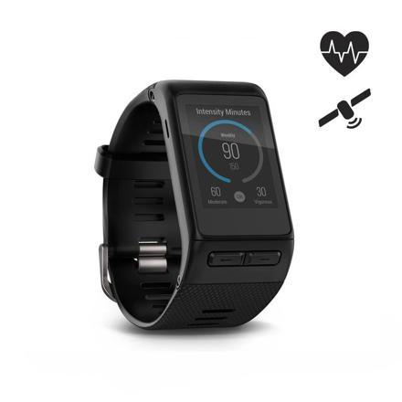montre connectée multisports avec cardio poignet et gps vivoactive hr noir garmin