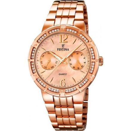 montre femme doré rose