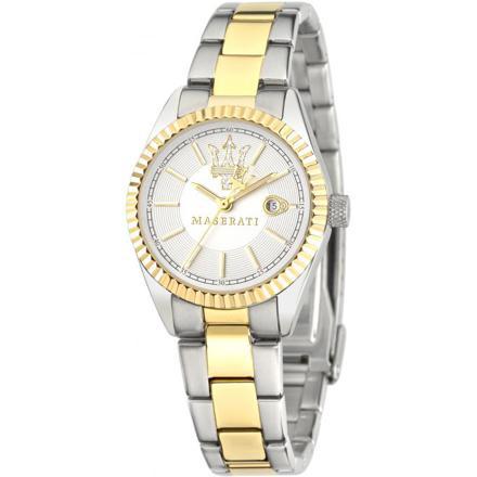 montre femme dorée et argentée