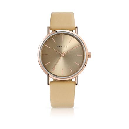 montre femme dorée