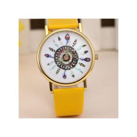 montre femme jaune