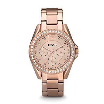 montre fossil femme rose