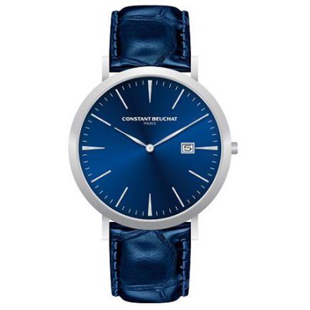 montre homme bleu