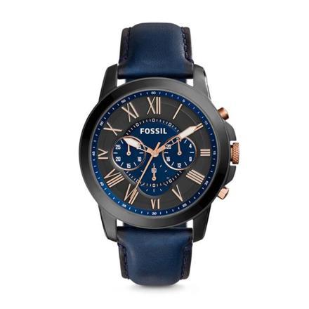 montre homme fossil bleu
