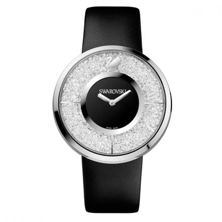 montre swarovski crystalline noire