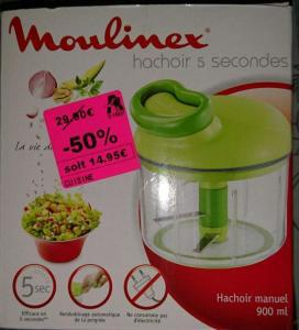moulinex hachoir 5 secondes