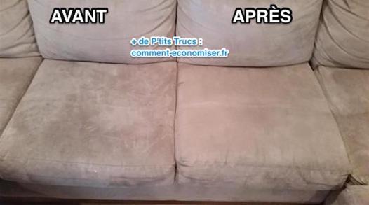 nettoyer fauteuil microfibre
