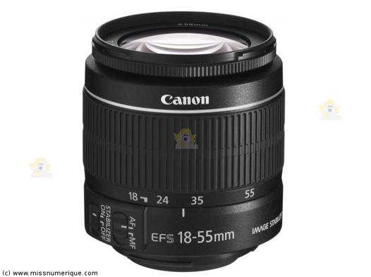 objectif canon 18