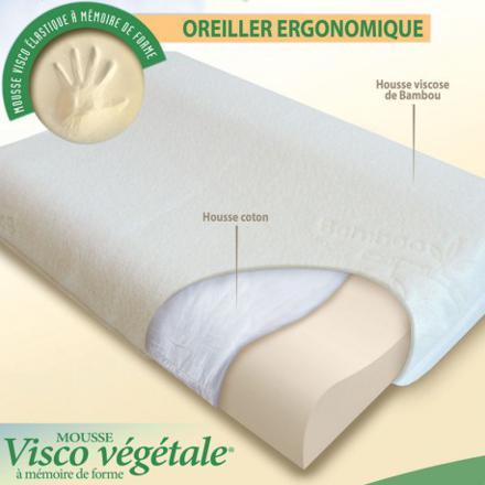 oreiller ergonomique à mémoire de forme