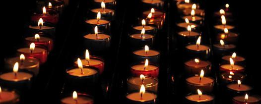 photos bougies allumées