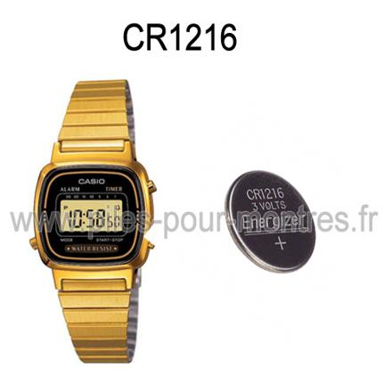 pile montre casio