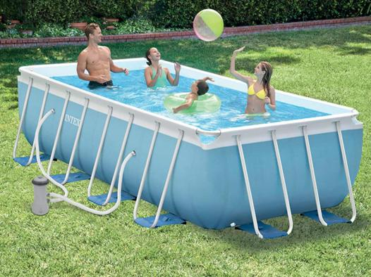 piscine intex rectangulaire tubulaire