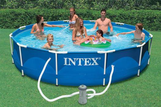 piscine metal frame intex