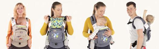 porte bébé multiposition