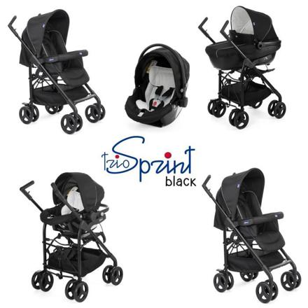 poussette trio sprint black