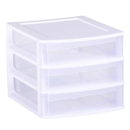 rangement 3 tiroirs plastique