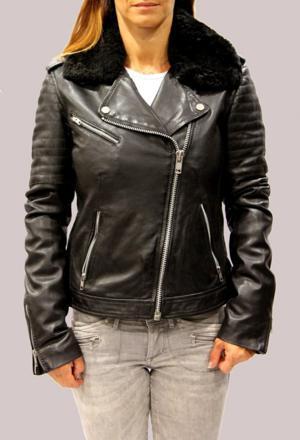 redskins veste cuir femme