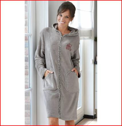 robe chambre polaire femme