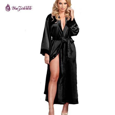 robe de chambre en satin pour femme