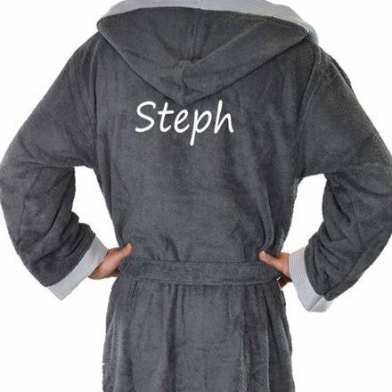 robe de chambre personnalisée homme