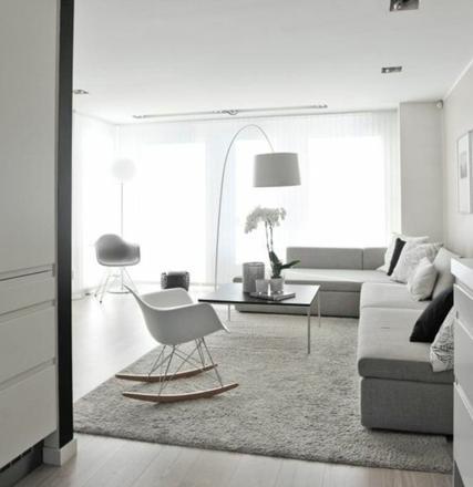 salon blanc gris