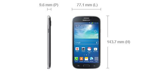 samsung galaxy grand plus taille