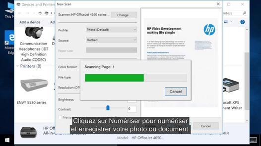 scanner sur imprimante hp