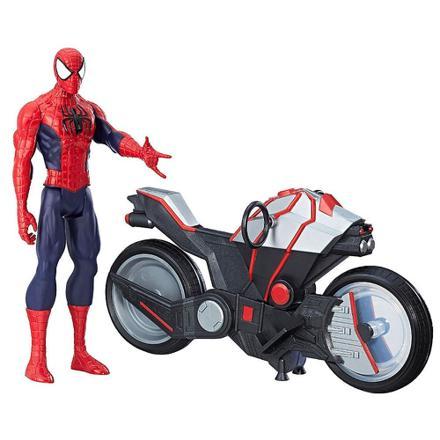 spiderman avec la moto